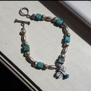 Jewelry - Silver & Turquoise Bracelet